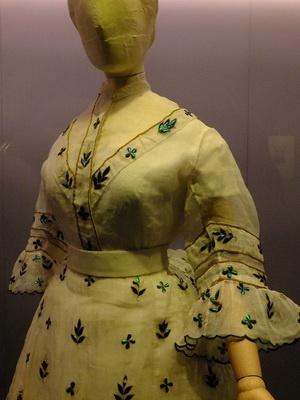 vleugels van prachtkevers als versiering op jurk